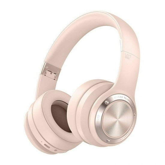 Wireless Headphones Bluetooth 5 0 Headset 40h Play Time Touch Control Stereo With Mic Pink